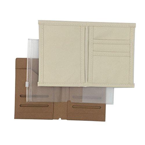 ChrisW 3-Pack Travelers Notebook Inserts - Oxford Fabric PocketKraft File FolderTransparent Zipper Pouch - Passport Size492 x 354