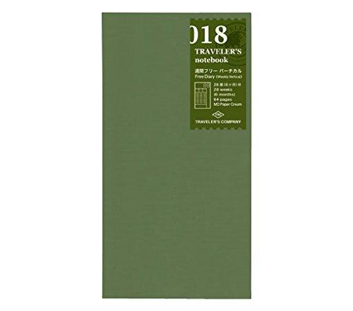 MIDORI Travelers Notebook 018  Free Diary Weekly Vertical