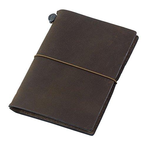 Midori Travelers Notebook Journal Passport Size - Brown
