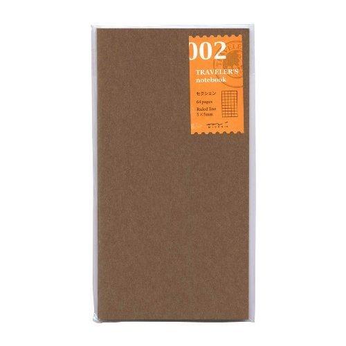 Midori Travelers Notebook refill 002 grid