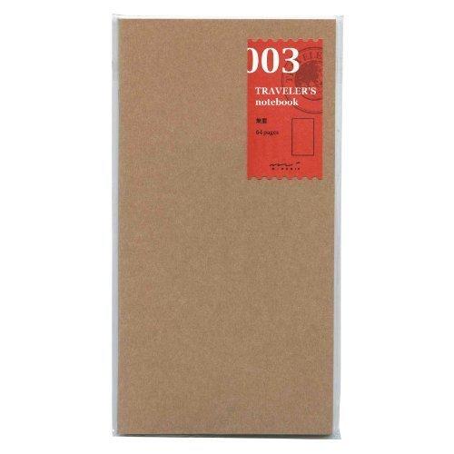 Midori Travelers Notebook refill 003 blank