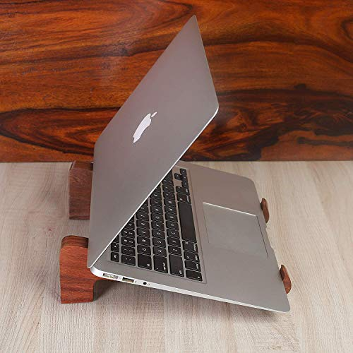 Rusticity Wood Laptop Stand Handmade Laptop Holder Stand for Notebook Computer MacBook Air Mac Pro and iPad Pro HP DELL Acer Toshiba Surface Lenovo etc Handmade 1053x078x292 in