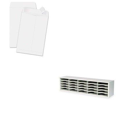 KITQUA44334SAF7751GR - Value Kit - Quality Park Redi-Strip Catalog Envelope QUA44334 and Safco E-Z Sort Steel Mail Sorter Module SAF7751GR