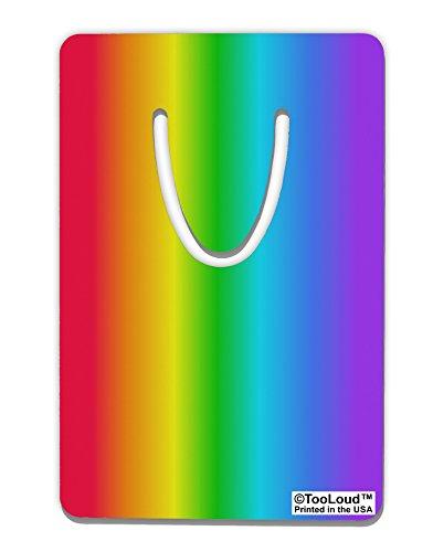 TooLoud Vertical Rainbow Gradient Aluminum Paper Clip Bookmark All Over Print