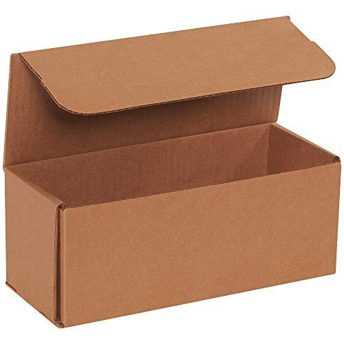 BOX USA BM1044K Corrugated Mailers 10 x 4 x 4 Kraft Pack of 50