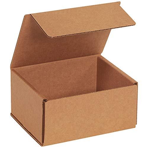 BOX USA BM653K Corrugated Mailers 6 x 5 x 3 Kraft Pack of 50