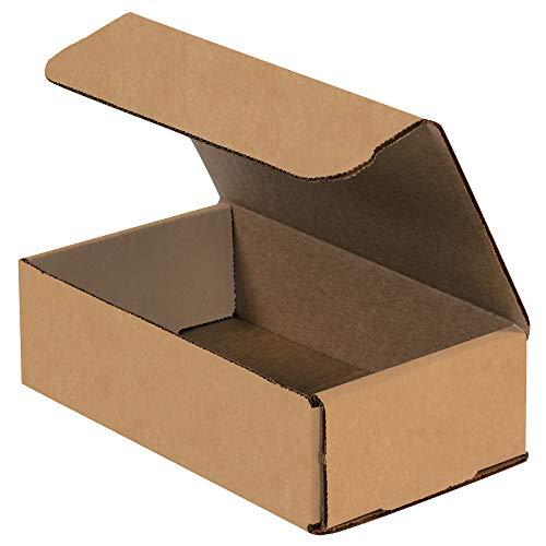 BOX USA BM742K Corrugated Mailers 7 x 4 x 2 Kraft Pack of 50
