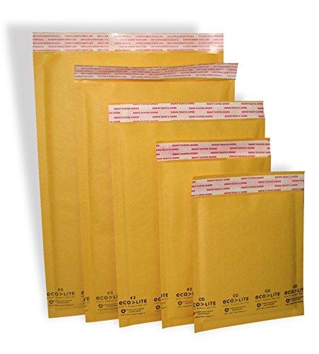 Polyair Eco-lite 4 ELSS4 Golden Kraft Bubble Mailer 95 x 145 Pack of 100