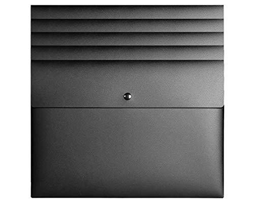 5 Pieces Poly File Folder Pockets File Jacket Plastic Envelope Flat Document Letter Organizer with Snap Button Closure A4 Letter Size Black - 5 Pieces