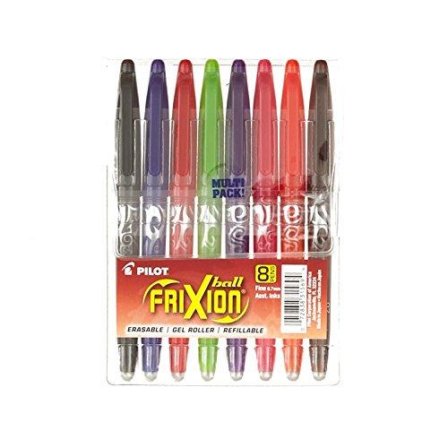 Pilot Frixion Ball Erasable Gel Pens 8Pkg-Assorted Colors