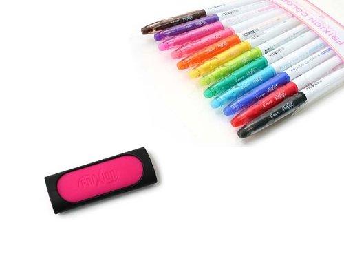 Pilot FriXion Colors Erasable Marker - 12 Color Set FriXion Eraser - Pink