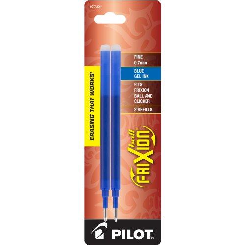 PILOT FriXion Gel Ink Refills for Erasable Pens Fine Point Blue Ink 2-Pack 77321