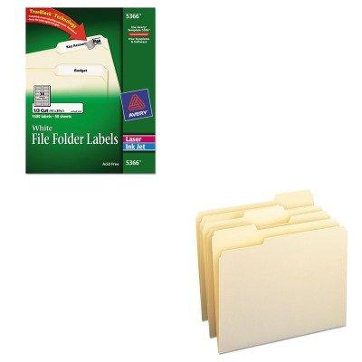 KITAVE5366SMD10330 - Value Kit - Smead File Folders SMD10330 and Avery Permanent Self-Adhesive LaserInkjet File Folder Labels AVE5366
