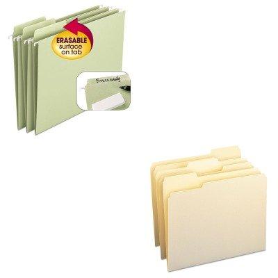 KITSMD10330SMD64032 - Value Kit - Smead Erasable FasTab Hanging Folders SMD64032 and Smead File Folders SMD10330