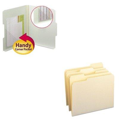 KITSMD10330SMD68140 - Value Kit - Smead Self-Adhesive Poly Corner Pockets SMD68140 and Smead File Folders SMD10330