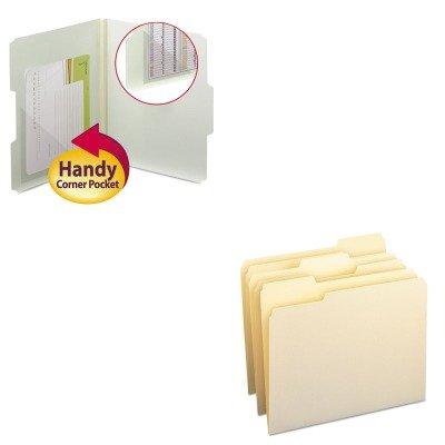 KITSMD10330SMD68160 - Value Kit - Smead Self-Adhesive Poly Corner Pockets SMD68160 and Smead File Folders SMD10330