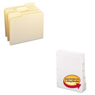 KITSMD10330SMD89415 - Value Kit - Smead Three-Ring Binder Index Divider SMD89415 and Smead File Folders SMD10330