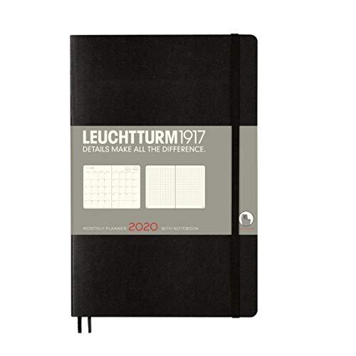 Leuchtturm1917 B6 2020 Monthly Planner and Notebook- 16 Months Black