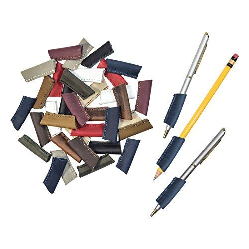 Durable Leather PenPencil Grip 3 Pack Handmade by Hide Drink  Slate Blue