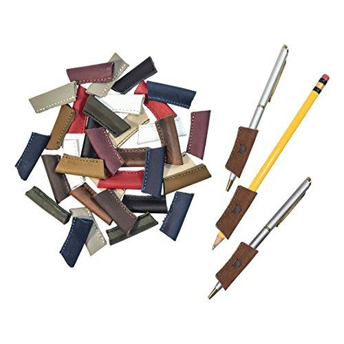 Durable Leather PenPencil Grip 3 Pack Handmade by Hide Drink  Swayze Suede