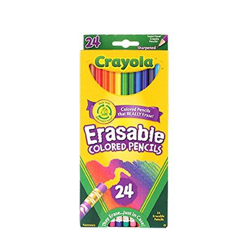 Crayola 24 Ct Erasable Colored Pencil