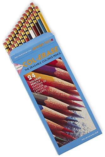 Prismacolor Col-Erase Erasable Colored Pencils 24-Count