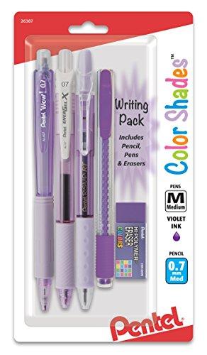Pentel Color Shades Writing Pack - Pastel Violet BLBKALZBPV