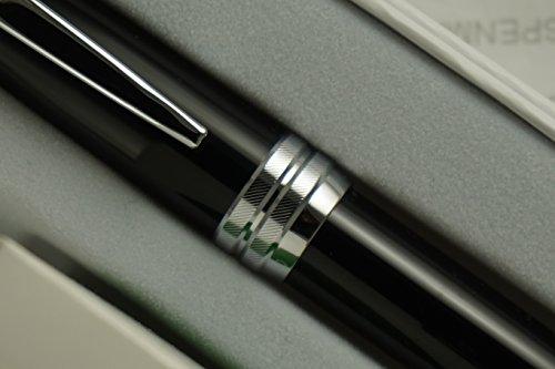 Cross Executive Companion Bailey Black Lacquer with Diamond Cut Multi-groove Cross Signature Center Ring and Medium nib Fountain Pen