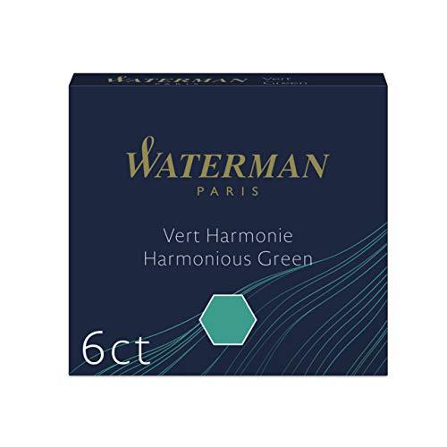 Waterman Fountain Pen Ink Cartridges Short International Harmonious Green 6 Count
