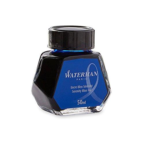Waterman Fountain Pen Ink Serenity Blue 50ml Bottle