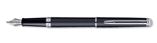 Waterman Hemisphere Matte Black CT Chrome Trim Fountain Pen Medium - 1782298