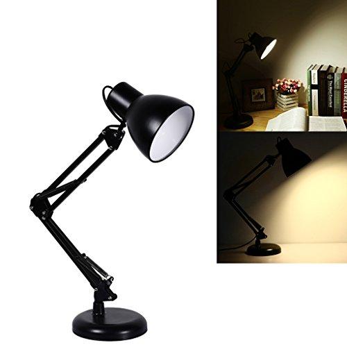 S&G Swing Arm Desk Lamp Heavy Base Architect Spring Balanced Table Lamp Black Painted Lamp