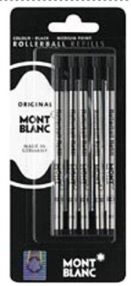 Montblanc Rollerball Refills Black Medium 5 Per Pack