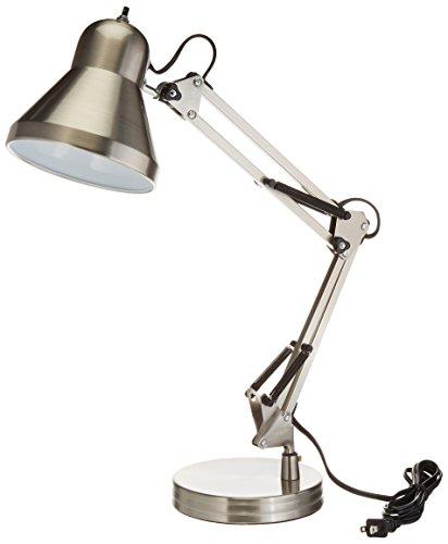 Boston Harbor WK-618E-3L Swing Arm Lamp Holder for Desk Lamp Brushed Nickel
