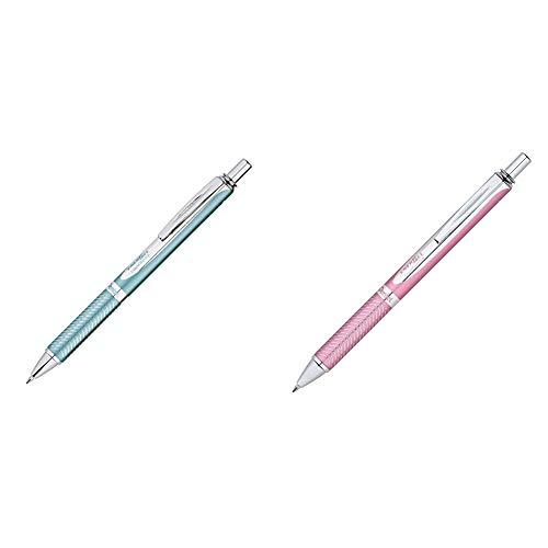 Pentel EnerGel Alloy RT Premium Liquid Gel Pen 07mm Aquamarine Barrel Black Ink 1 Pack BL407LSBPA  Gel Ink Rollerball Pen 07mm BL407PBPA