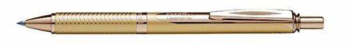 Pentel EnerGel Alloy RT Retractable Liquid Roller Gel Pen - Metal Barrel 07mm - Gold Body Blue Ink