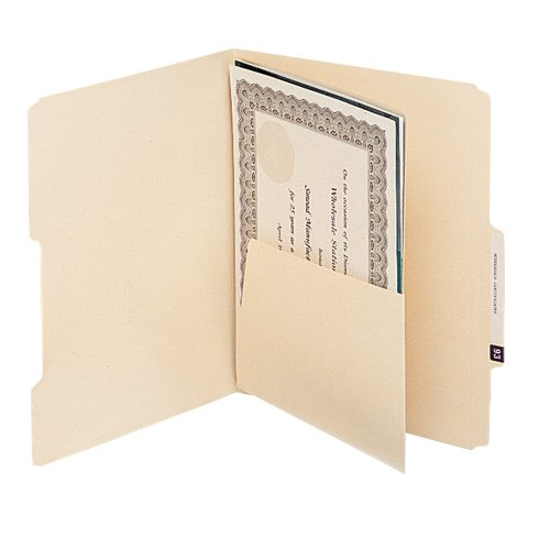 Smead 68030 MLA Self-Adhesive Folder Dividers with 5-12 Pockets on Both Sides Pack of 25