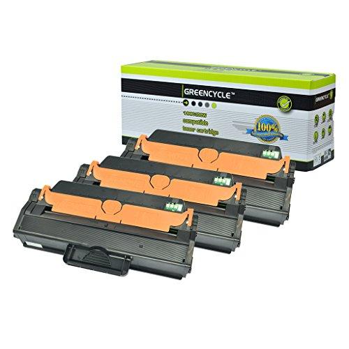 GREENCYCLE 3 Pack MLT-D115L D115L Black Toner Cartridge Compatible For Samsung SL-M2830DW Laser Printer