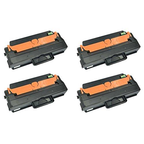 SuperInk 4 Pack MLT-D115L MLTD115L Black Toner Cartridge For Samsung Laser SL-M2830DW SL-M2820DW