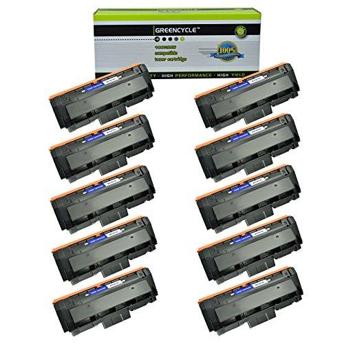 GREENCYCLE 10 Pack Black Compatible for Samsung 116L MLT-D116L MLTD116L Toner Cartridges High Yield use in Xpress SL-M2825DW SL-M2835DWXAA SL-M2885FWXAA SL-M2875FDFW CL-M2625D Imaging Unit