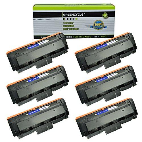 GREENCYCLE 6 Pack Black Compatible for Samsung 116L MLT-D116L MLTD116L Toner Cartridges High Yield use in Xpress SL-M2825DW SL-M2835DWXAA SL-M2885FWXAA SL-M2875FDFW CL-M2625D Imaging Unit