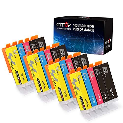 CMTOP 20 Pack PGI-250XL CLI-251XL Ink Cartridges Compatible for Canon 250 251 XL PGI-250XL CLI-251XL Ink Cartridege 5 Color for Canon PIXMA MX922 MG5520 MG5420 MG6620 MG5620 IX6820 IP7220 MX722