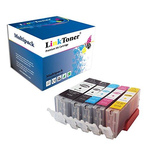 LinkToner Compatible Ink Cartridge for Canon PGI-250XL CLI-251XL 1 Large Black 1 Cyan 1 Magenta 1 Yellow 1 Small Black for Canon Printer PIXMA MX922 MG5520 MG7520