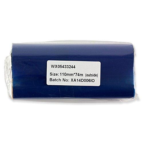 2PK OfficeSmartLabels Black 433 x 244 width x length Premium Performance Thermal Wax Ribbon for Zebra Desktop Printer GC420t GK420t GX420t GX430t TLP2844 TLP2442