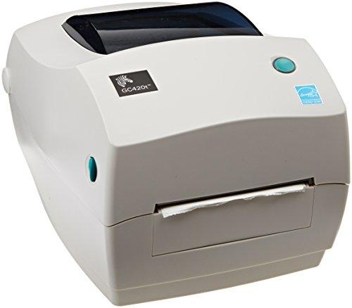 Zebra GC420t Monochrome Desktop Direct ThermalThermal Transfer Label Printer 4s Print Speed 203 dpi Print Resolution 409 Print Width 110-240V AC