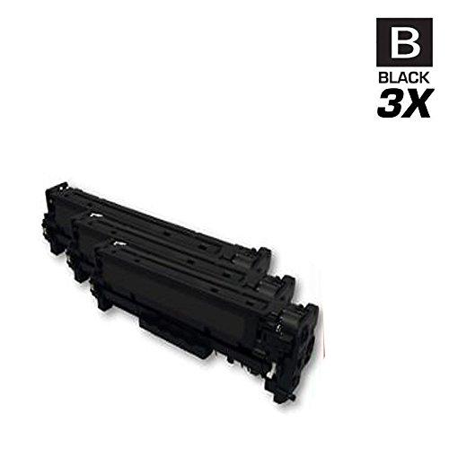 PRINTJETZ Premium Compatible Replacement for 3Pk HP 304A CC530A Black Toner Cartridges Set