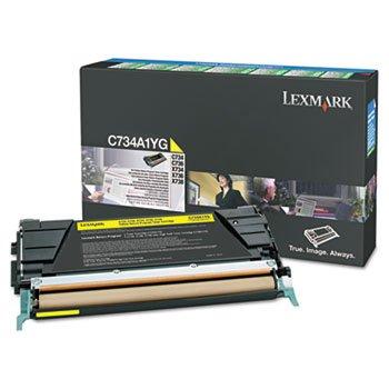 LEXC746A1YG - Lexmark C746 C748 Yellow Return Program Toner Cartridge