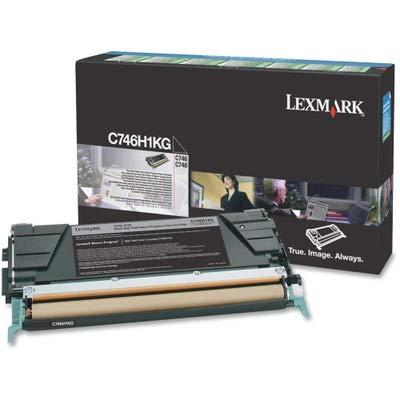 Lexmark High Yield Return Program Black Toner Cartridge C746H1KG C746-H1KG
