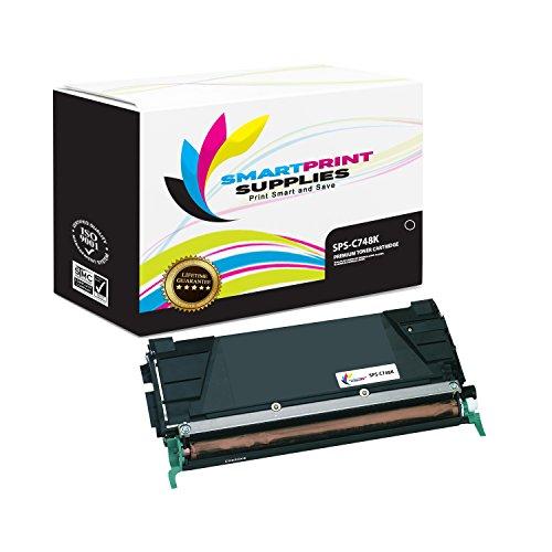 Smart Print Supplies Compatible C748 C746H1KG C746H2KG C746H4KG Black High Yield Toner Cartridge Replacement for Lexmark C748 C746 C748 X746 X748 Printers 12000 Pages