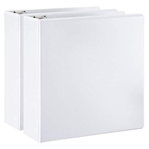 AmazonBasics D-Ring Binder - 3 Inch 2-Pack